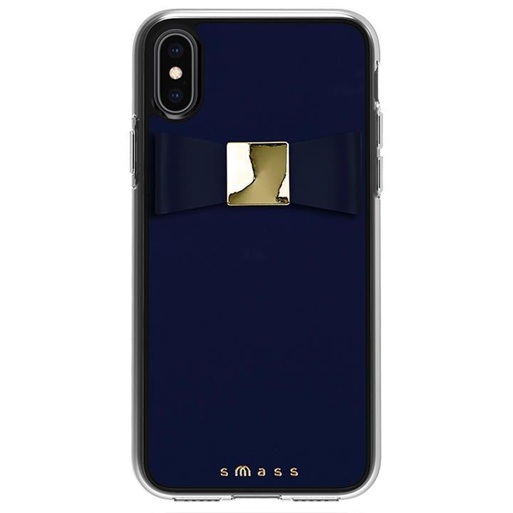 iPhone XS/X ケース Athand Rebon 本革 デザインケース ネイビー iPhone XS/X_0