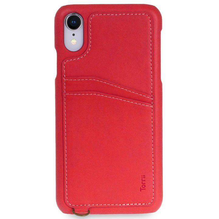 iPhone XR ケース Torrii  KOALA カードポケット付きケース ストラップ付き レッド iPhone XR_0