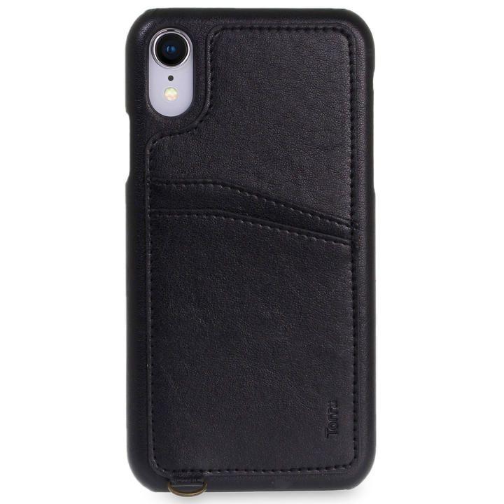 iPhone XR ケース Torrii  KOALA カードポケット付きケース ストラップ付き ブラック iPhone XR_0