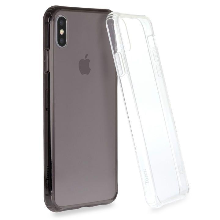 iPhone XS Max ケース Torrii TPUフレーム強化ガラスケース スモーク iPhone XS Max_0