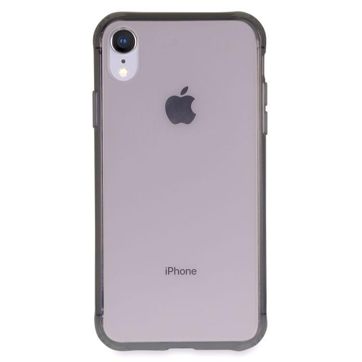 iPhone XR ケース Torrii TPUフレーム強化ガラスケース スモーク iPhone XR_0
