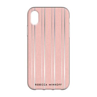 iPhone XR ケース Rebecca Minkoff Be Flexible 背面ケース METALLIC STRIPE iPhone XR