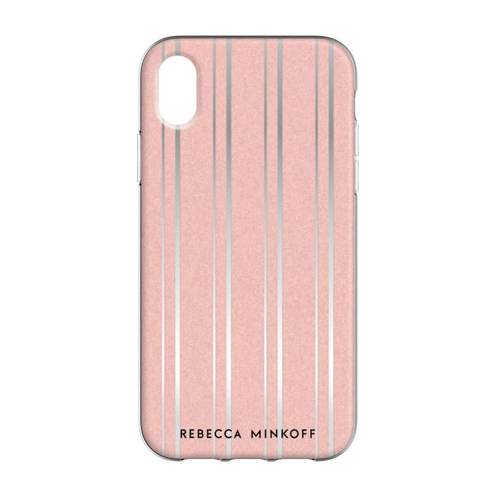 iPhone XR ケース Rebecca Minkoff Be Flexible 背面ケース METALLIC STRIPE iPhone XR_0