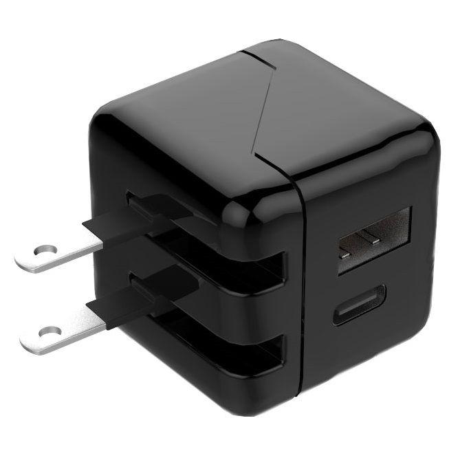 [2018新生活応援特価]TypeCポート搭載 小型USB-AC充電器 ブラック