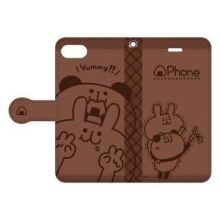my作「うさぎとパンダ」の手帳型iPhone 8/7用ケース【11月中旬】