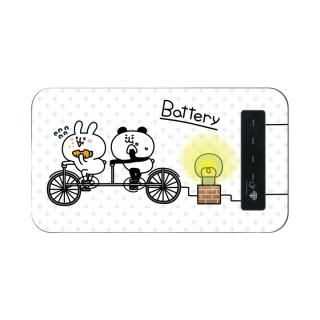 my作「うさぎとパンダ」のモバイルバッテリー【11月中旬】