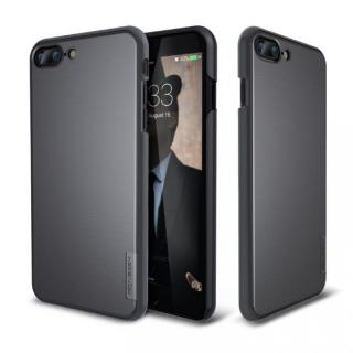 メタルライン風ハードケース META SLIM ブラック iPhone 7