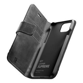 iPhone 12 Pro Max (6.7インチ) ケース Supreme 本革手帳型ケース ブラック iPhone 12 Pro Max