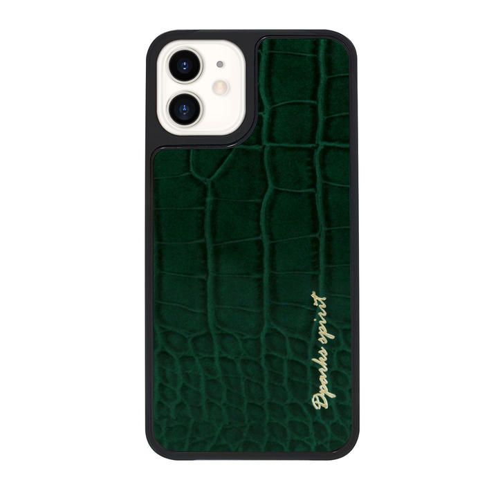 Dparks leather Case Green iPhone 12/iPhone 12 Pro_0