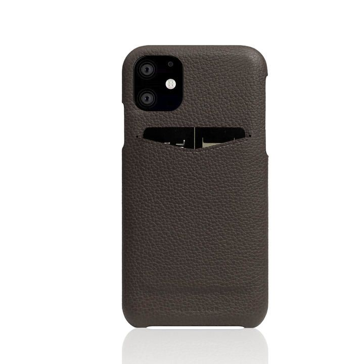 SLG Design Full Grain Leather Back Case Brown Cream iPhone 12 mini_0