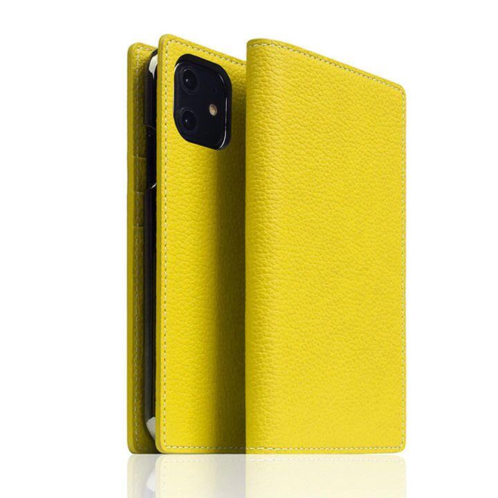 SLG Design Edition Full Grain Leather Flip Case Lemon iPhone 12/iPhone 12 Pro_0
