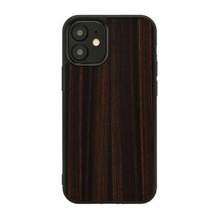 iPhone 12 mini (5.4インチ) ケース Man & Wood 天然木ケース Ebony iPhone 12 mini