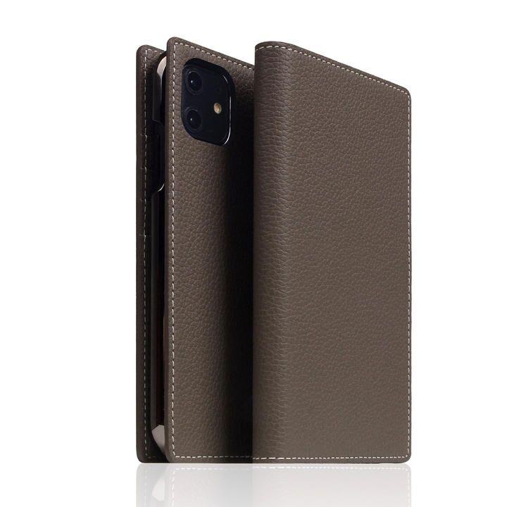 SLG Design Full Grain Leather Case Etoffe Cream iPhone 12/iPhone 12 Pro_0