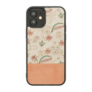 iPhone 12 / iPhone 12 Pro (6.1インチ) ケース Man & Wood 天然木ケース Pink Flower iPhone 12/iPhone 12 Pro