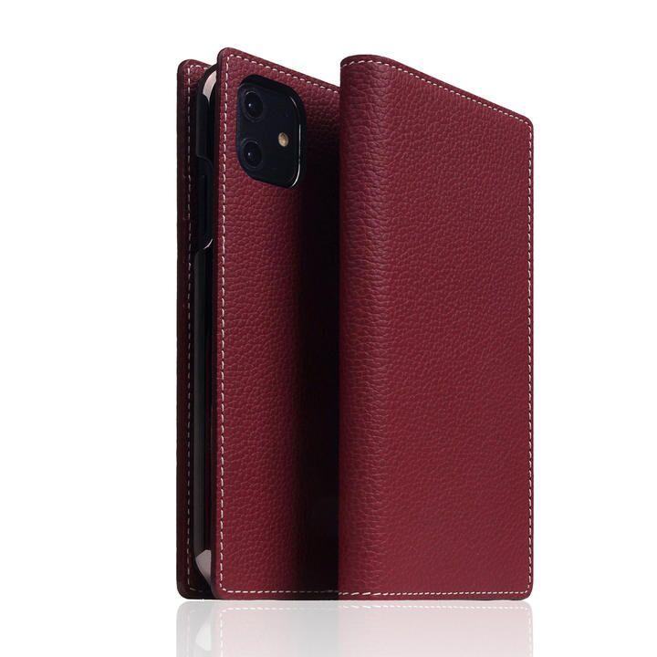 SLG Design Full Grain Leather Case Burgundy Rose iPhone 12/iPhone 12 Pro_0