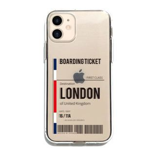 iPhone 12 / iPhone 12 Pro (6.1インチ) ケース Dparks ソフトクリアケース london iPhone 12/iPhone 12 Pro