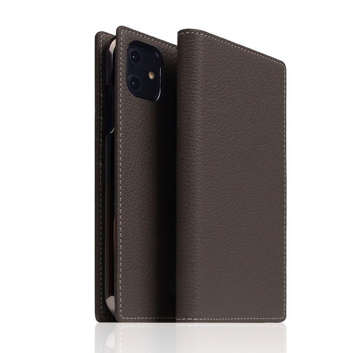 SLG Design Full Grain Leather Case Brown Cream iPhone 12/iPhone 12 Pro_0