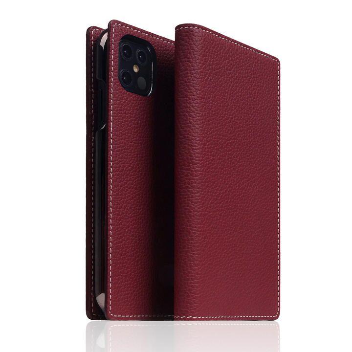SLG Design Full Grain Leather Case Burgundy Rose iPhone 12 Pro Max_0