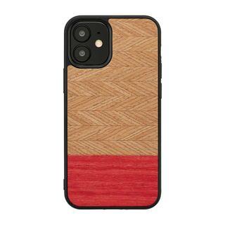 iPhone 12 / iPhone 12 Pro (6.1インチ) ケース Man & Wood 天然木ケース Herringbone Peach iPhone 12/iPhone 12 Pro