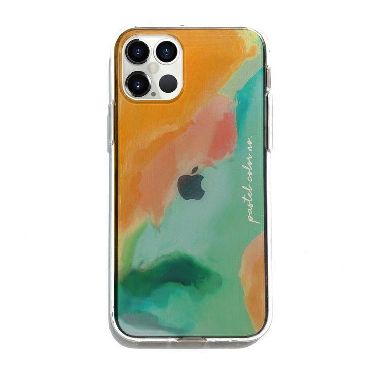 Dparks ソフトクリアケース Pastel color OrangeGreen iPhone 12 Pro Max_0