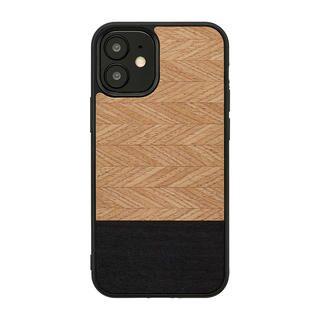 iPhone 12 / iPhone 12 Pro (6.1インチ) ケース Man & Wood 天然木ケース Herringbone Nero iPhone 12/iPhone 12 Pro