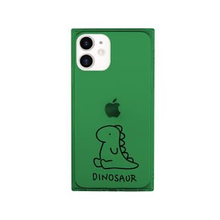iPhone 12 mini (5.4インチ) ケース AKAN ソフトスクウェアケース ザウルス グリーン iPhone 12 mini