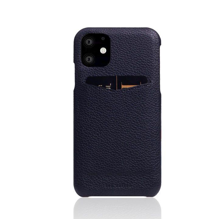 SLG Design Full Grain Leather Back Case Black Blue iPhone 12 mini_0