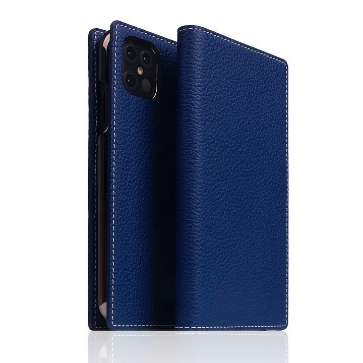SLG Design Full Grain Leather Case Navy Blue iPhone 12 Pro Max_0