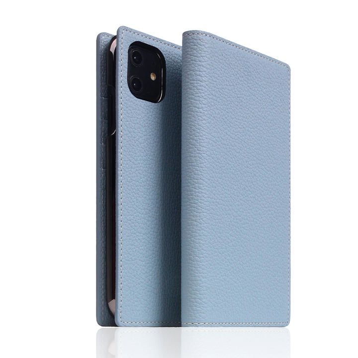 SLG Design Full Grain Leather Case Powder Blue iPhone 12/iPhone 12 Pro_0