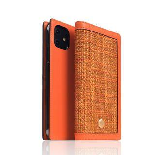 iPhone 12 mini (5.4インチ) ケース SLG Design Edition Calf Skin Leather Diary オレンジ iPhone 12 mini【11月下旬】