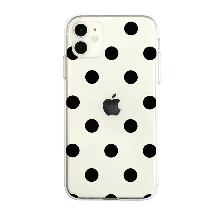 Dparks ソフトクリアケース ドットブラック iPhone 12/iPhone 12 Pro_0