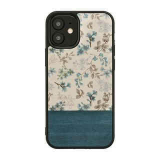 iPhone 12 / iPhone 12 Pro (6.1インチ) ケース Man & Wood 天然木ケース Blue Flower iPhone 12/iPhone 12 Pro