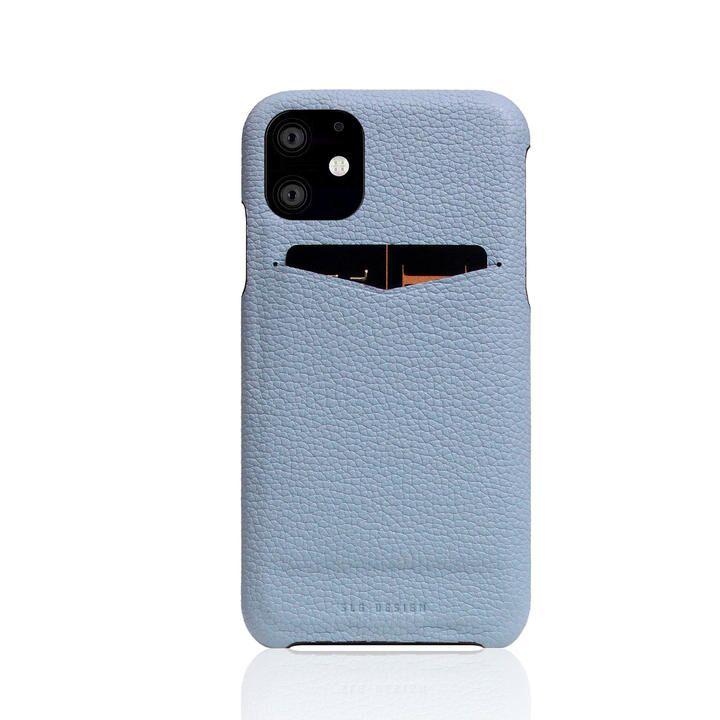 SLG Design Full Grain Leather Back Case Powder Blue iPhone 12 mini_0