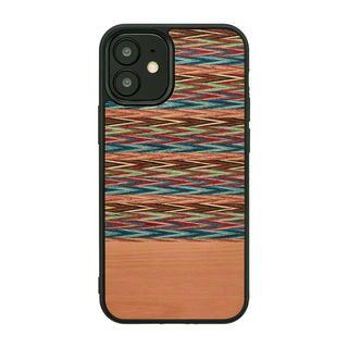 iPhone 12 / iPhone 12 Pro (6.1インチ) ケース Man & Wood 天然木ケース Browny Check iPhone 12/iPhone 12 Pro