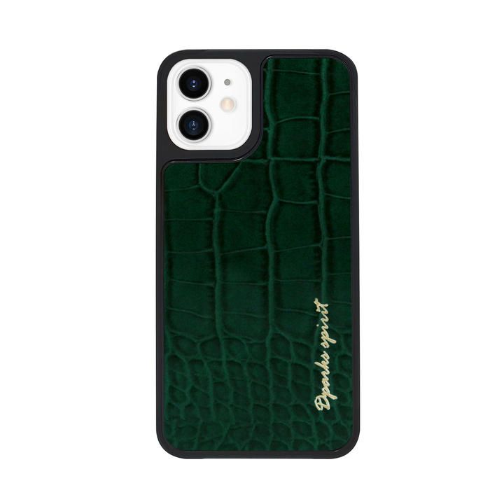Dparks leather Case Green iPhone 12 mini【11月下旬】_0