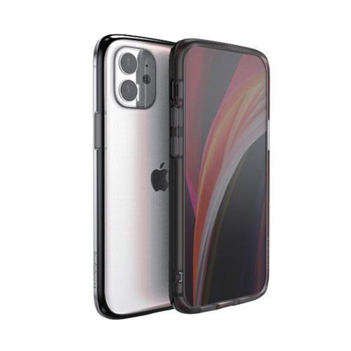 motomo INO LINE INFINITY CLEAR CASE Chrome black iPhone 12 mini_0
