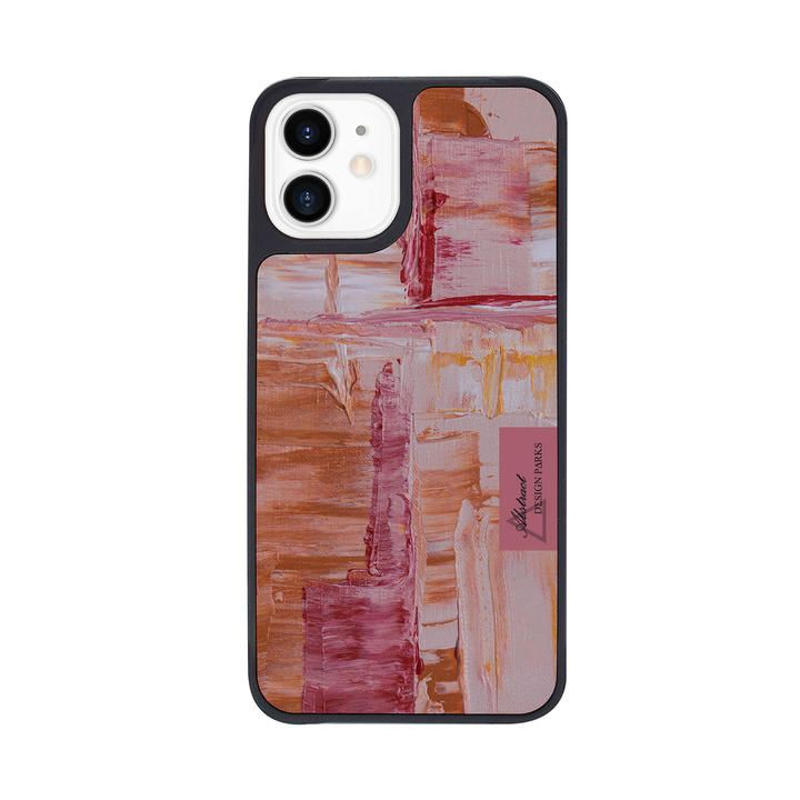 Dparks Black Cover Painting Blending PINKBROWN iPhone 12 mini_0