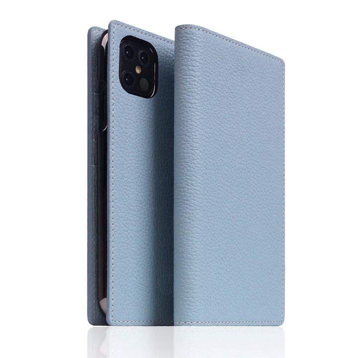 SLG Design Full Grain Leather Case Powder Blue iPhone 12 Pro Max【11月下旬】_0