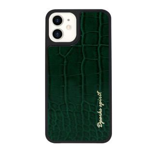 iPhone 12 / iPhone 12 Pro (6.1インチ) ケース Dparks leather Case Green iPhone 12/iPhone 12 Pro