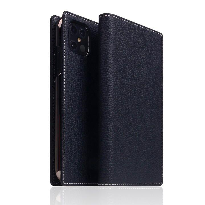 SLG Design Full Grain Leather Case Black Blue iPhone 12 Pro Max_0