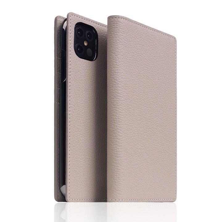 SLG Design Full Grain Leather Case Light Cream iPhone 12 Pro Max_0