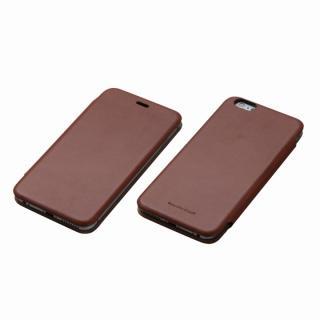 Deff 天然牛革手帳型ケース MASK ブラウン iPhone 6 Plusケース
