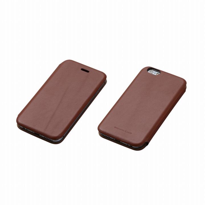 【iPhone6ケース】Deff 天然牛革手帳型ケース MASK ブラウン iPhone 6 ケース_0