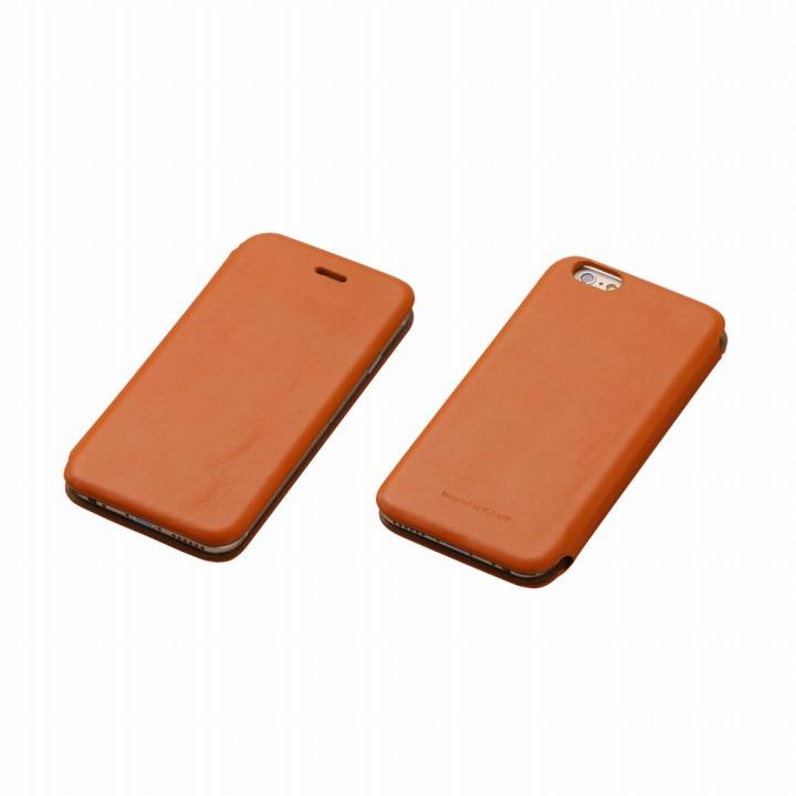 【iPhone6ケース】Deff 天然牛革手帳型ケース MASK キャメル iPhone 6 ケース_0
