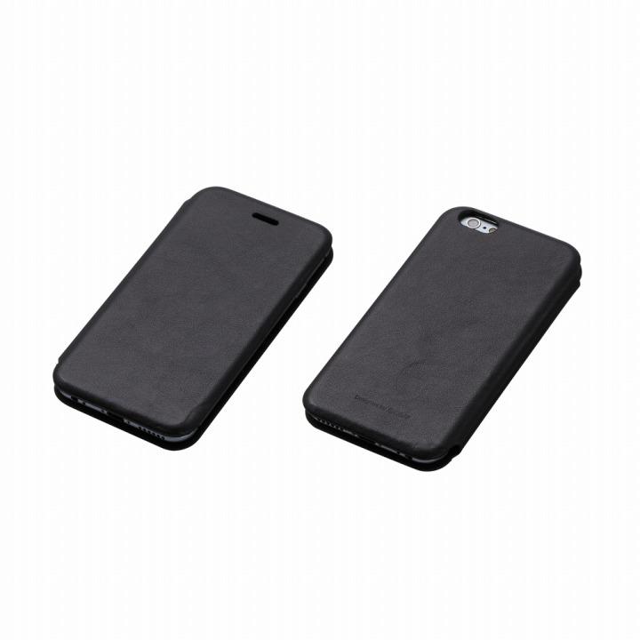 Deff 天然牛革手帳型ケース MASK ブラック iPhone 6s/6 ケース