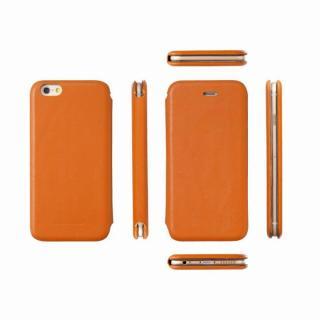 【iPhone6ケース】Deff 天然牛革手帳型ケース MASK キャメル iPhone 6 ケース_2