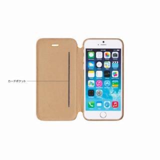 【iPhone6ケース】Deff 天然牛革手帳型ケース MASK キャメル iPhone 6 ケース_3