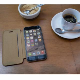 【iPhone6ケース】Deff 天然牛革手帳型ケース MASK キャメル iPhone 6 ケース_6