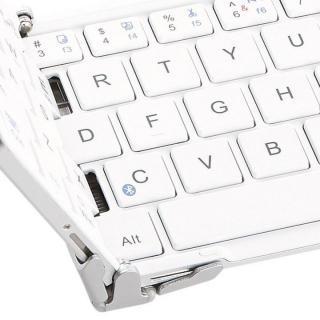 三つ折 Bluetoothコンパクトキーボード ホワイト 専用ケース付属_5