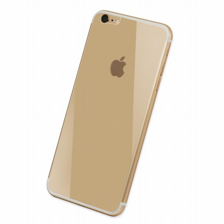 Deff 背面強化ガラス ゴールド iPhone 6 Plus強化ガラス